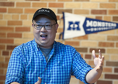 Peter Sohn is the voice of Squishy in Monster University