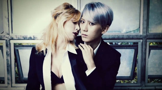 An image of HyunA and Hyunsung from teaser video