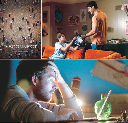 "The American movie ""Disconnect"" portrays the struggles of a group of people trying to make human connections in a highly-wired world. /  Korea Times file"