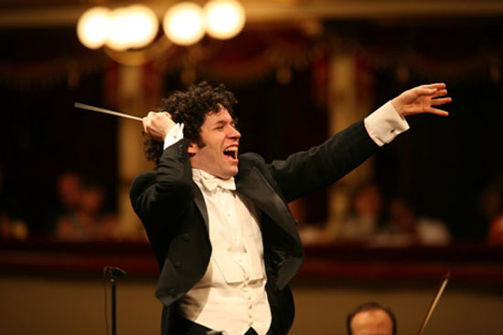 Gustavo Dudamel, who at 28 became the youngest music director in the history of the Los Angeles Philharmonic, is the most famous musician to have trained under the El Sistema network of youth orchestras in Venezuela. / Courtesy of Credia