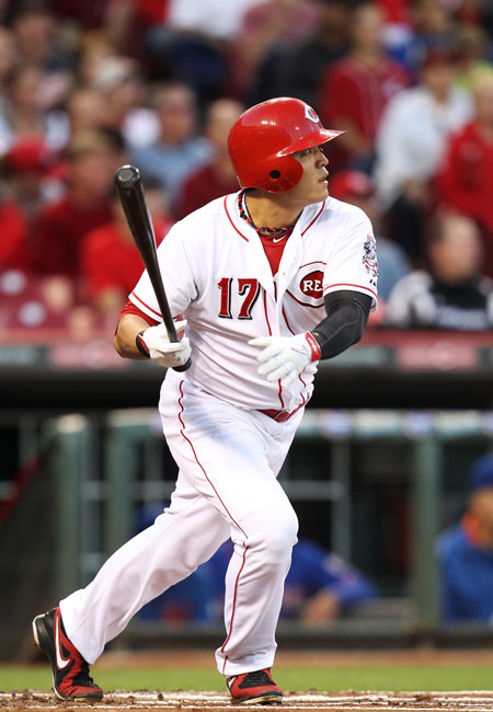 Cincinnati Reds' Choo Shin-soo stepped up big in a contract year, solidifying his status as one of the best leadoff hitters in baseball. / AFP-Yonhap