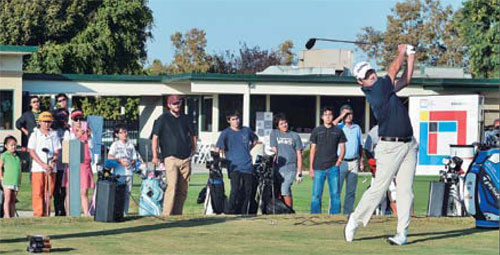 PGA Tour golfer John Huh is showing aspiring junior golfers how it's supposed to be done. (Sang Yoon Han)