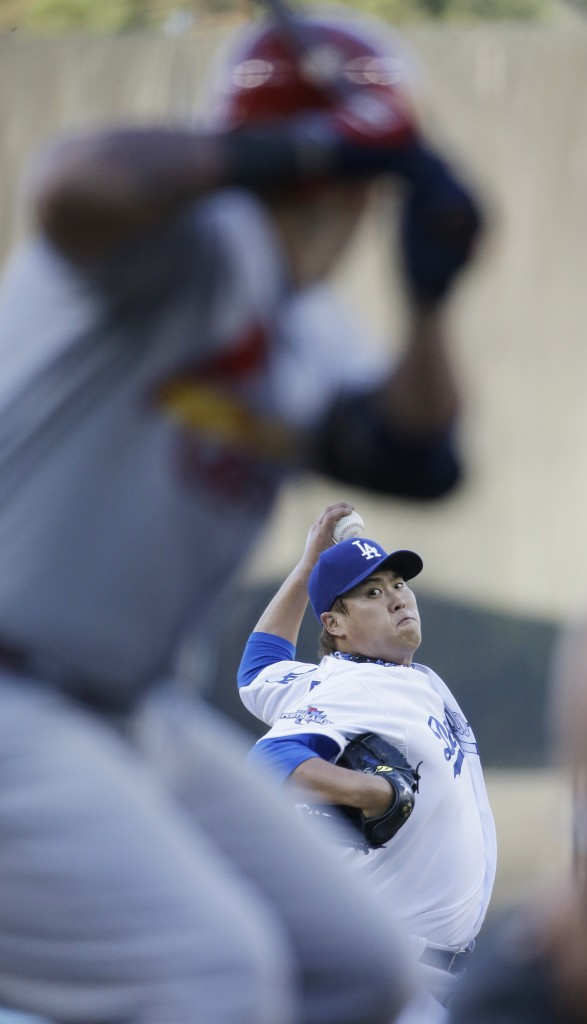 Ryu Hyun-jin no doubt was the biggest Korean sports star of 2013. (AP)