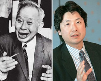 """From left are a book titled """"Understanding Korean-American Literature"""" (Variety Crossing Press, Canada, 2013); Korean American authors Younghill Kang; and Chang-rae Lee. The book offers a glimpse of the short history of Korean-American literature from its early period in the 1930s up to the present day and the future potential for it through diverse theme changes over time. / Daesan Foundation and Korea Times file"""