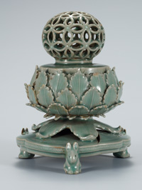 "The 12th century ""Celadon Openwork Incense Burner,"" designated as National Treasure No. 95"