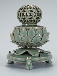 "The 12th century ""Celadon Openwork Incense Burner,"" designated as National Treasure No. 95"