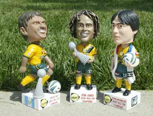 LA Galaxy gave away Hong Myung-bo bobbleheads 10-years ago. (Korea Times file)