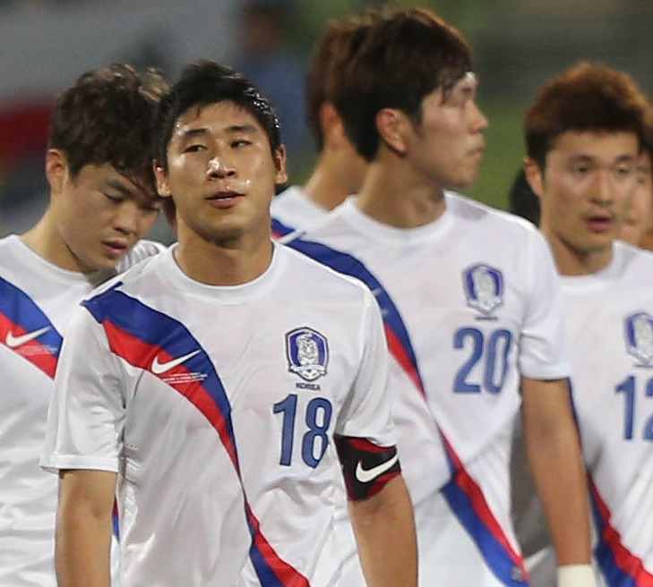 Korean players couldn't hide their disappointment. (Yonhap)
