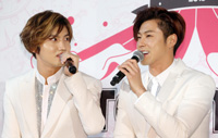 TVXQ's Max Changmin, left, and U-Know