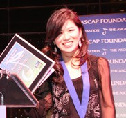 Chung Yea-kyung poses with her Vic Mizzy Scholarship at the 18th Annual ASCAP Foundation Awards Ceremony at Jazz at Lincoln Center's Allen Room in New York City. (Courtesy of Chung Yea-kyung)