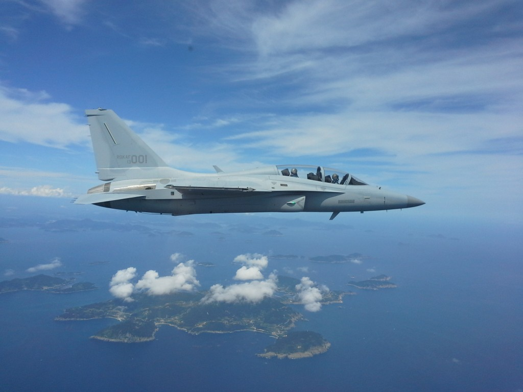 Pictured is the FA-50 light attack fighter developed by Korea Aerospace Industries Inc. (Yonhap)