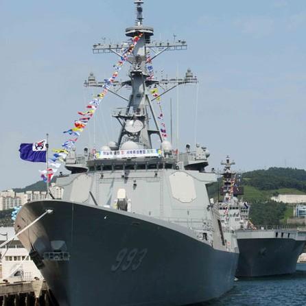 ROK Navy's Aegis-equipped destroyer DDG-993