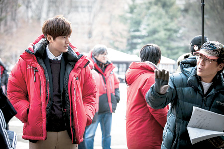 "Actor Lee Min-ho on a scene for ""The Heirs"" in this undated file photo.  (Courtesy of Starhaus Entertainment)"