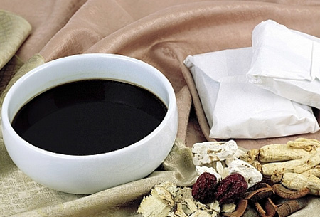 Drinking herbal extracts are another traditional way for healthcare in Korea.