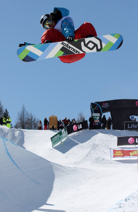 Snowboarder Kim Ho-jun aims to enter the Olympic finals in Sochi after he finished 26th at the Vancouver Games four years ago. (Korea Times)
