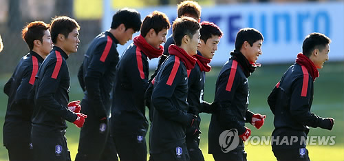 National football team poised to head to Brazil for training (yonhap)