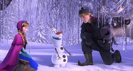 Anna, Olaf, and Kristoff