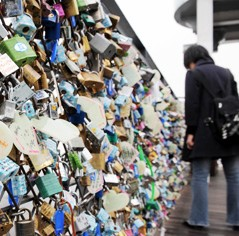 Love lock at N Seoul Tower