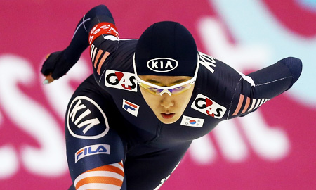 Speed skater Lee Sang-hwa