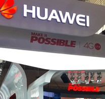 People take a look at the new 4G mobile devices in the booth of China's Huawei Technologies, during the MWC in Barcelona, Thursday. (Korea Times photos by Choi Kyong-ae)