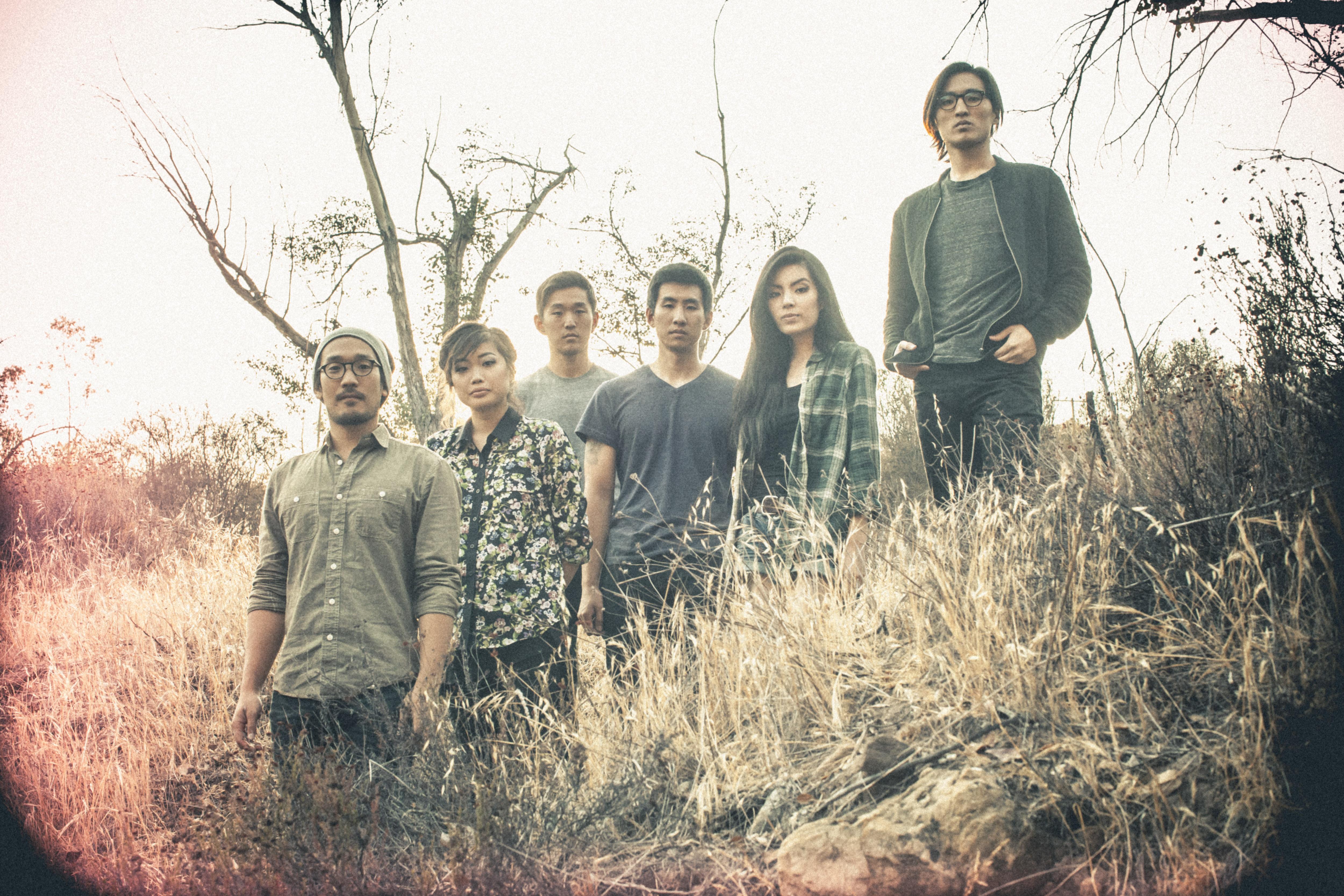 From left, Alex Hwang, Sally Kang, Daniel Chae, Joe Chun, Jennifer Rim, and John Chong of Run River North.