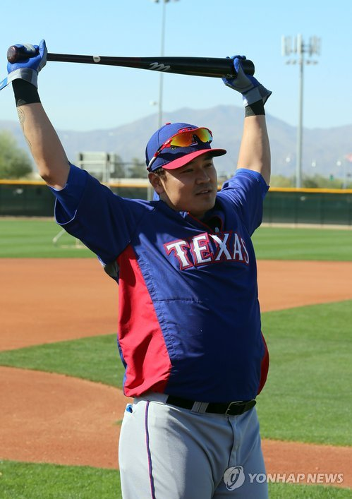 Choo Shin-soo has started off quiet in Texas.  (Yonhap)