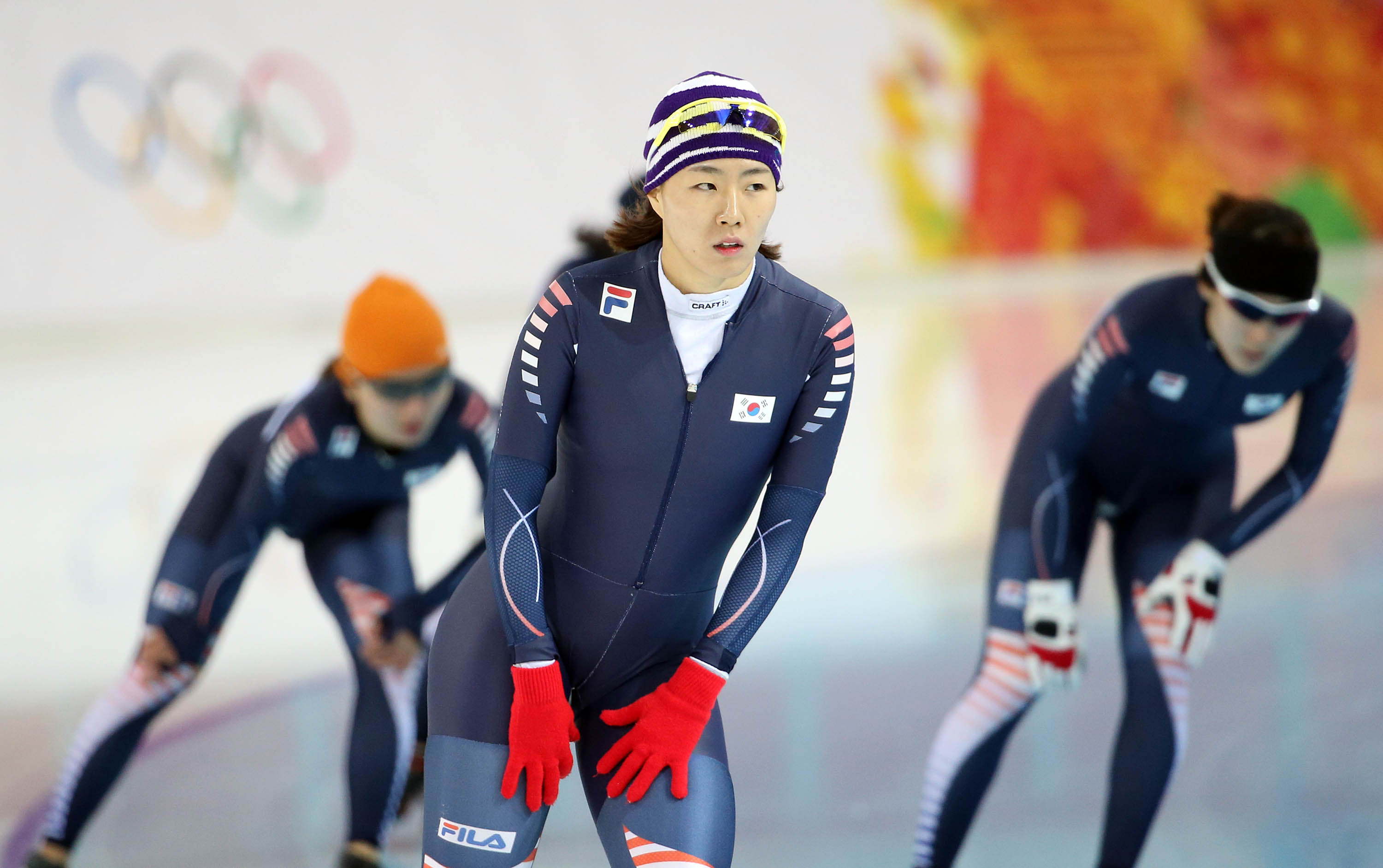 "Lee Sang-hwa will have to get used to Sochi's ""Funny ice"" quickly. (Yonhap)"