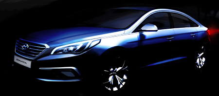 Hyundai Motor unveiled the all-new Sonata at its research center in Namyangju, Gyeonggi Province, Tuesday. (Courtesy of Hyundai Motor)