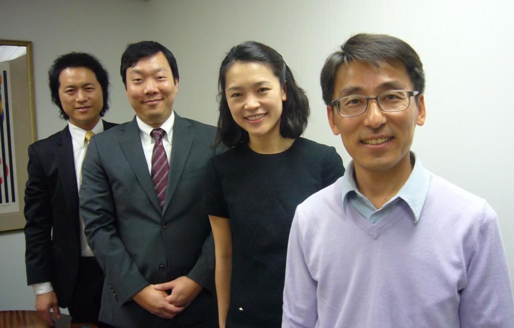 Left to right: Kim Yong-jae, Kim Hyong-soon, Cho Hye-won, Joshua Cho
