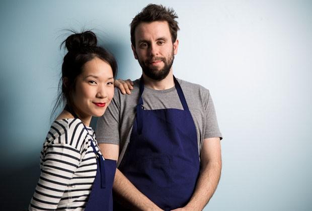 Top Chef alum Beverly Kim and her husband John Clark.