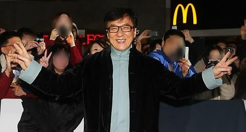 Jackie Chan now has a K-pop band of his own. (Yonhap)