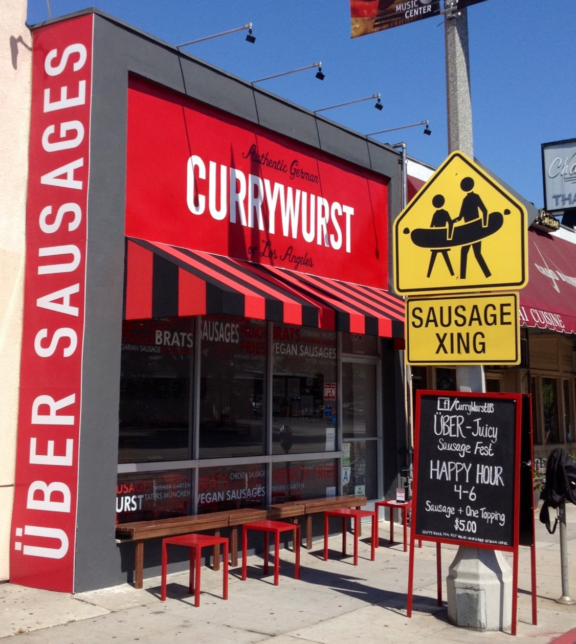 Currywurst sits just across the street from CBS in Los Angeles. (Currywurst)