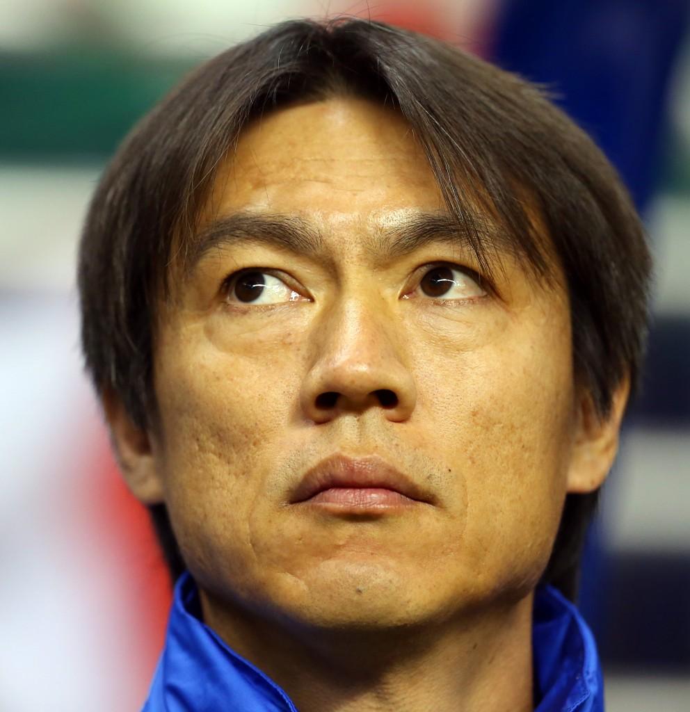 Korean manager Hong Myung-bo. (Korea Times file)