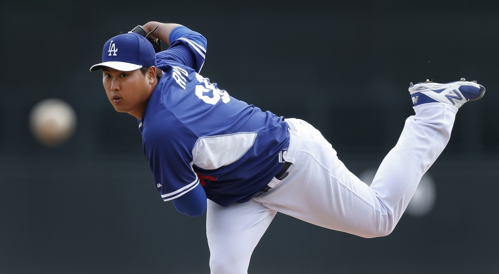 Ryu Hyun-jin has looked sharp in his three preseason starts. (AP)