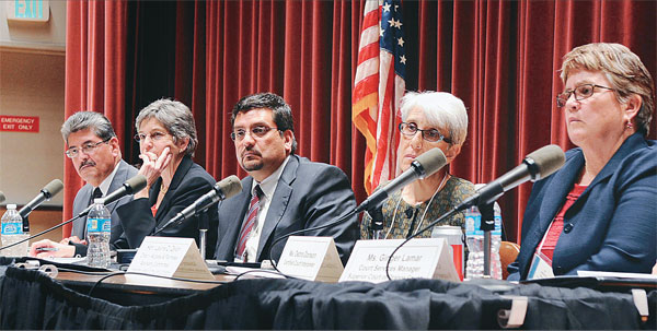 During a public hearing this week, residents and court employees came out to discuss the Statewide Language Access Plan (LAP) for California Courts, which was launched last month by the state's legislation and judiciary committee. (Park Sang-hyuk)