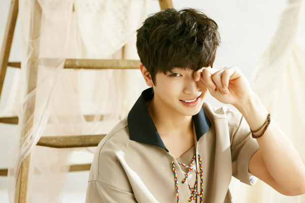 "Jinwoon for ""One Spring Day."" - JYP Entertainment"