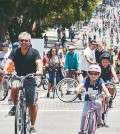 """CicLAvia temporarily removes cars from L.A. streets - and the streets fill up with smiles,"" says the event organizers."