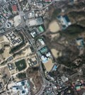 One of the photographs taken by an unmanned aerial vehicle that crashed in Paju on March 24 shows the Gyeongbok Palace area near Cheong Wa Dae. (Courtesy of Ministry of National Defense)