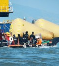 Efforts to rescue missing passengers are still underway Monday. / The Korea Times