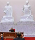 North Korean leader Kim Jong-un presides over a meeting of the Political Bureau of the Central Committee of the ruling Workers' Party of Korea in Pyongyang Tuesday. / Yonhap