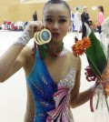 Rhythmic gymnast Son Yeon-jae won four titles  at a World Cup stop in Portugal over the weekend. (Yonhap - Courtesy of IB Worldwide)
