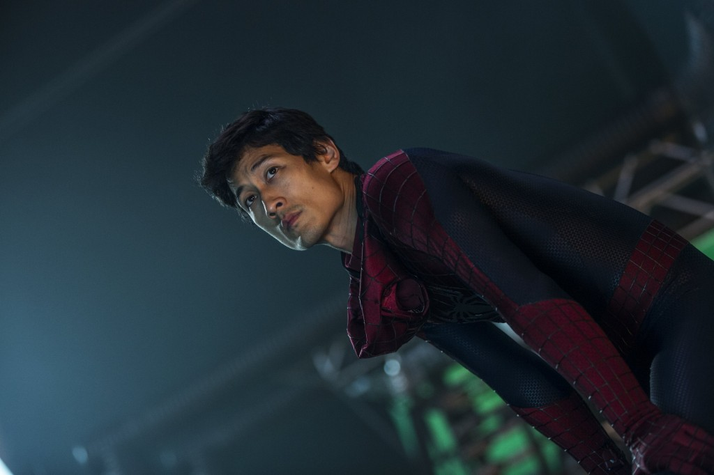 "Ilram Choi on the set of Columbia Pictures' ""The Amazing Spider-Man 2,"" starring Andrew Garfield and Emma Stone. (Courtesy of Sony Pictures)"