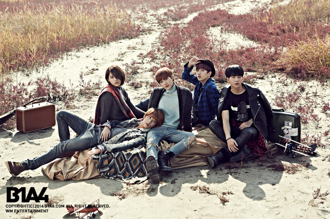 "B1A4 during ""Who Am I"" promotions. (WM Entertainment)"