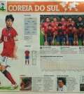 The South Korean national soccer team was introduced in one Brazilian newspaper recently as well organized squad with dangerous counter-attack capabilities. (Yonhap)