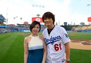 Singer Ali and Park Chan-ho at Korean Night.
