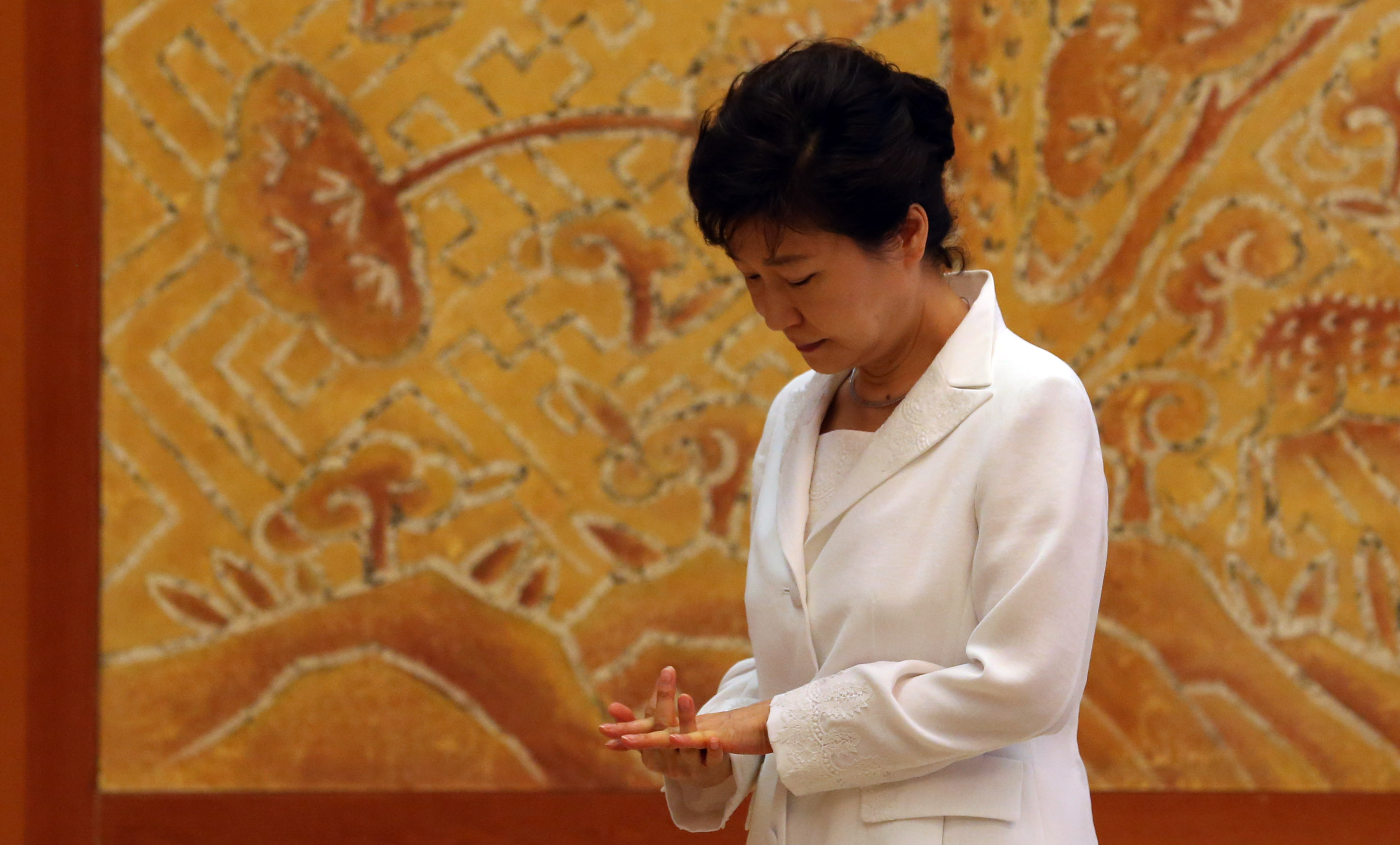 President Park Geun-hye has a lot to think about. (Yonhap)