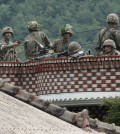 Soldiers take position at an outpost near the North Korean border. (AP Photo/Ahn Young-joon)