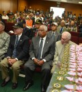California National Guard 40th Infantry Division Commander Maj. Gen. Keith Jones, left, attends a commemorative ceremony for the 64th anniversary of the Korean War at the Korean American Federation of L.A. Wednesday. (Kim Young-jae / The Korea Times)