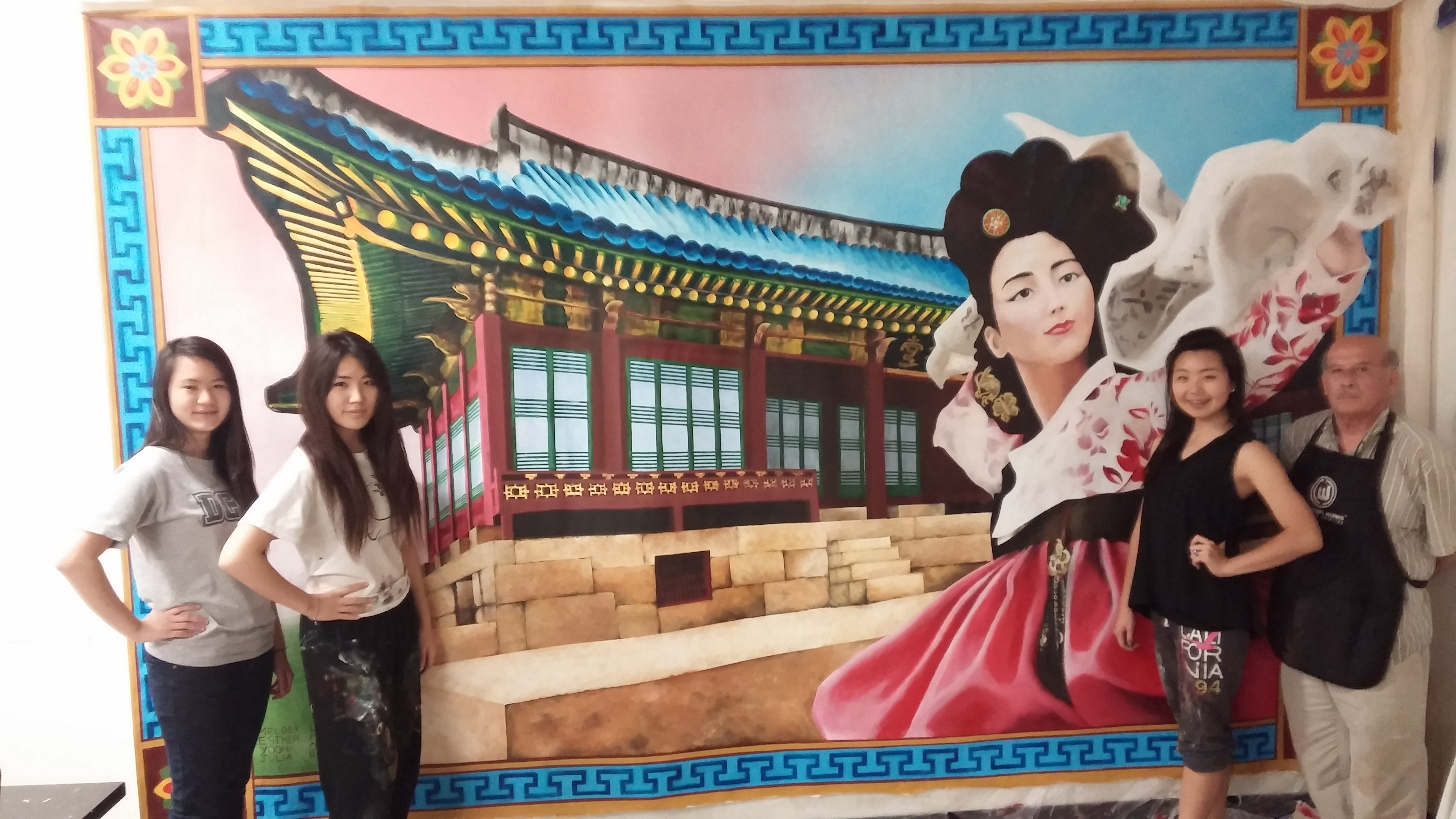 Mural created by Korean students draws attention at OCSA – The Korea