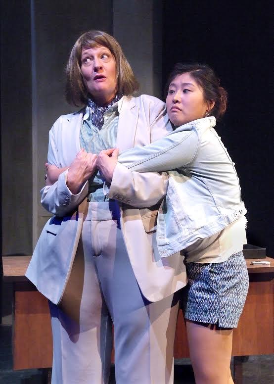 "Carolyn Almos (left) and Kahyun Kim in Alice Tuan's ""Hit."" (Courtesy of LATC)"